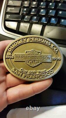 Dudley Perkins Co. Boucle De Ceinture 80e Anniversaire Harley Bar & Shield Eps19727