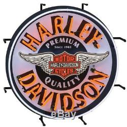 Enseigne Au Néon Hdl-15409 De La Marque Harley Davidson Motorcycles Bar & Shield