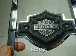 Eps15825 Chrome Harley Fxr Sissy Bar Fxrt + Bar & Emblème Bouclier Fxrd Fxrs Fxlr +