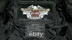 Femme Harley Davidson Hd Bar En Cuir Et Veste D'équitation Shield Medium