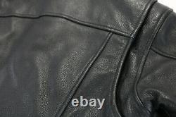 Femme Harley Davidson Veste En Cuir L Stock 98112-06vw Fermeture Éclair Bouclier Barre Noire