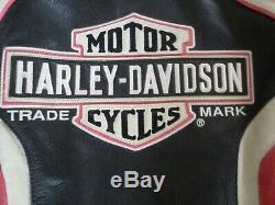 Femmes Harley Davidson Ridgeway Rose Bar & Shield Distressed Veste En Cuir Sz L