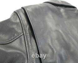 Femmes Harley Davidson Veste En Cuir L Peaux De Base Noir Double Glissière Bar Bouclier