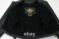 Femmes Harley Davidson Veste En Cuir S Noir Nevada 98122-03vw Glissière Bar Shield