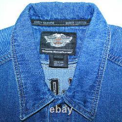 Gorgee Harley-davidson Sleeveless Denim Vest Jacket Bar&shield 99041-08vm Sz L