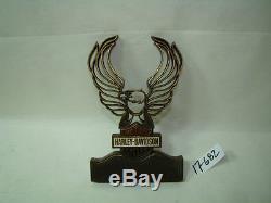 Harley Bar & Shield Insert De Sissy Bar Ailes D'aigle Ailes Rouge Blanc Bleu Fxr Fl Eps17682