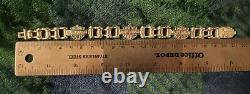 Harley Davidson 3 Bar & Shield Chaîne Lien 925 Bracelet En Argent Sterling 8.25