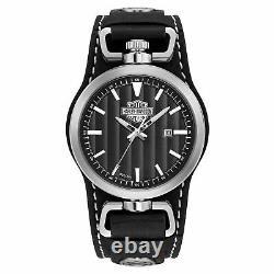 Harley Davidson 76b185 Bar Et Bouclier Pour Hommes Rotation Cas Cuff Wristwatch