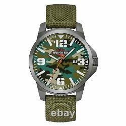 Harley Davidson 78b157 Bar & Shield Pour Hommes Logo Camo Print Wristwatch