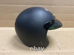 Harley Davidson Bad Boy 3/4 Casque Cuir Avec Couture Bar & Shield 98020-95vi
