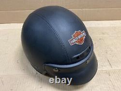 Harley Davidson Bad Boy Half Helmet Leather With Bar& Shield Stitching 98063-93vi Harley Davidson Bad Boy Half Helmet Leather With Bar& Shield Stitching 98063-93vi Harley Davidson Bad Boy Half Helmet Leather With Bar& Shield Stitching 98063-93vi Harley Davidson