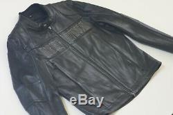 Harley Davidson Bad Moon Bar Men & Shield Noir Veste En Cuir 2xl 97149-07vm