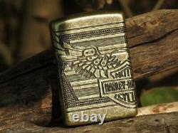 Harley Davidson Bar And Shield Eagle Wings Zippo Lighter Edition Limitée Armor