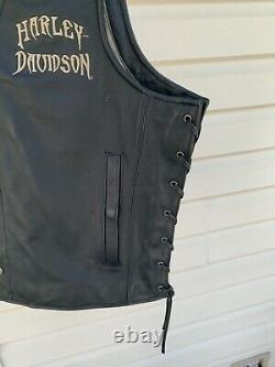 Harley Davidson Bar And Shield Wings Vest Men Grande Relique De Nice