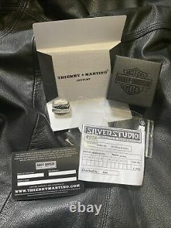 Harley Davidson Bar & Bouclier Anneau Onyx Noir Thierry Martino Soulfetish Taille 10