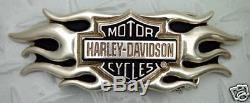 Harley Davidson Bar Bouclier Flamme Boucle Nouveau