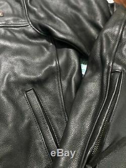 Harley Davidson Bar Et Le Bouclier De Cuir Équitation Vitesse Veste Taille Large / XL