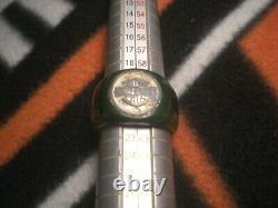Harley Davidson Bar - Shield Antique Vintage Old Bakelite Green Man's Men Ring