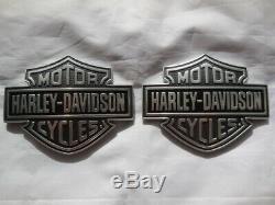Harley Davidson Bar & Shield B & S Réservoir Embleme Tankschilder 61400055 & 61400056