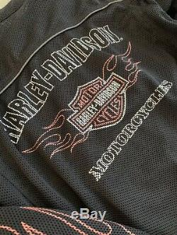 Harley Davidson Bar & Shield Flames Tour Ready Mesh Jacket 98304-10vm Taille Petit
