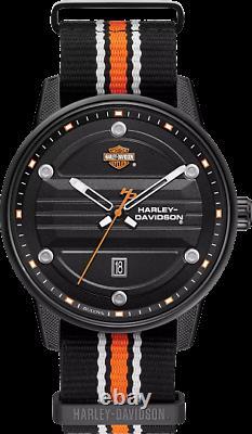 Harley Davidson Bar & Shield Homme Montre 78b153