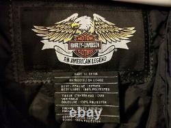 Harley Davidson Bar & Shield Pour Hommes Veste En Cuir Orange-noir 3xl Perf Liner