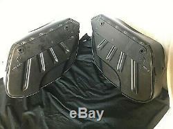 Harley Davidson Bar & Shield Saddlebags En Cuir Pour Les Modèles Dyna