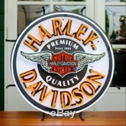 Harley Davidson Bar Winged Et Bouclier Neon Sign Hdl-15409 Livraison Gratuite