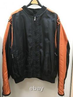Harley Davidson Black Orange Bar & Shield Nylon Racing Jacket 3xl 97068-00v Euc