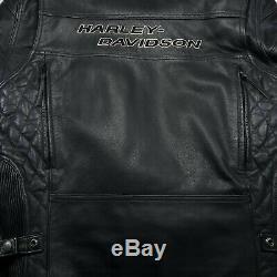 Harley Davidson Cafè Racer Bar & Shield Armure Matelassée Motard Veste L