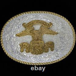 Harley Davidson Crumrine Bar Eagle Shield 90 Nos Vintage Boucle De Ceinture