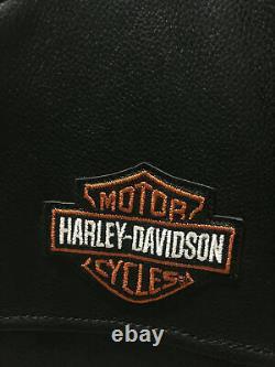 Harley Davidson Cuir Noir Bar Noir Et Shield Riders Veste Taille Grand
