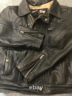 Harley Davidson Defender Embossed Bar Shield Cuir Noir 97006-02vm Veste L