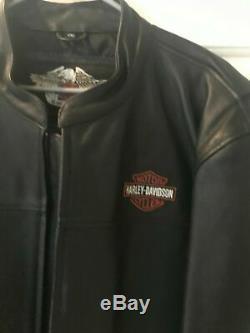 Harley Davidson En Cuir Bar Et Le Bouclier Veste 2xl XXL Équitation