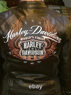 Harley Davidson Femme Moxie Bar & Shield Leather Jacket #98003-11vw M