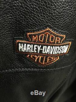 Harley Davidson Femmes Bar En Cuir Et Le Bouclier D'équitation En Cuir Veste XL