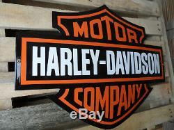 Harley Davidson Garage Concessionnaire Logo Bar & Shield Émail Connexion