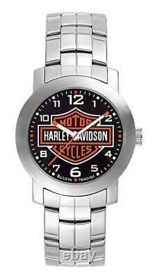 Harley Davidson Homme Bar & Shield Wrist Watch Bulova 76a019