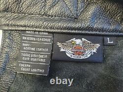 Harley Davidson Homme L Cuir Chaps Black Stock Pants Bar Shield 98090-06vm