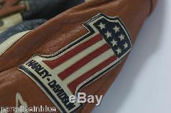 Harley Davidson Homme Prestige En Cuir Fabriqué USA Veste Bar Et Bouclier 97000-05vm M