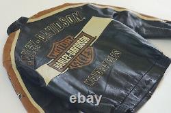 Harley Davidson Homme Prestige Leather USA Made Jacket Bar & Shield 97000-05vm L