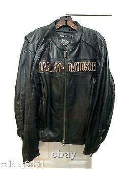 Harley Davidson Homme Roadway Veste En Cuir Noir Bar & Shield XL 98015-10vm Ec