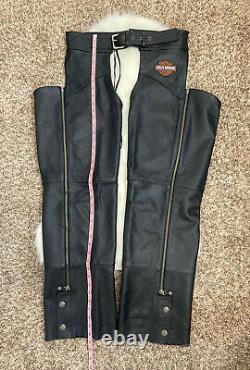 Harley Davidson Hommes Chapeaux En Cuir Noir Stock Bar & Shield Taille Grande Euc