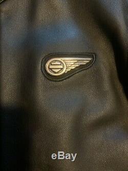Harley Davidson Hommes Grand L Bar & Shield Logo Noir Veste En Cuir Parfait