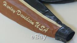 Harley Davidson Hommes Prestige Cuir Made USA Veste Bar & Shield 97000-05vm XL