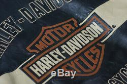 Harley Davidson Hommes Prestige Cuir USA Fabriqué Veste Bar & Shield 97000-05vm L