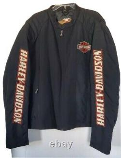 Harley Davidson Jacket Homme 2xl Nylon Bar & Shield Belted Bb