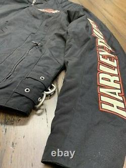 Harley Davidson Jacket Homme Large Nylon Bar & Shield Ceinturée