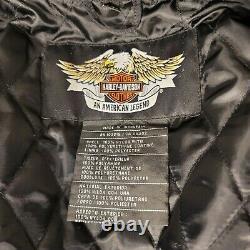 Harley Davidson Jacket Homme XL Nylon Bar & Shield Belted 52 Coffre