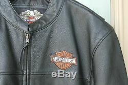 Harley Davidson Leather Bar And Shield Moto Veste XL XXL Homme